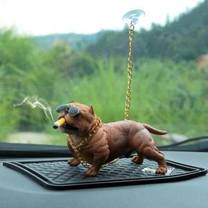 Car Dog Decoration Creative Personality High Grade Car Interior Fashion Simulation Dog Doll Interior Accessories Ornaments