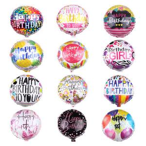 Alta calidad 18inch Feliz Cumpleaños papel de aluminio globos de helio globo metalizado Bolas Para kkd la decoración del partido Juguetes Globos