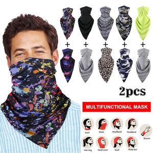 Masque extérieur Visage Couverture Mode Outdoor Echarpes multifonctionnelles transparente Hairband tête écharpe Bandana Neck Cover