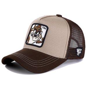 Yeni Marka Anime TAZ KHAKI Snapback Cap Pamuk Beyzbol Şapka Bay Bayan Hip Hop Baba Mesh Şapka Trucker Dropshipping