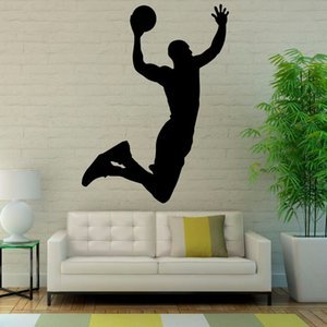 Popular Sports Wall Stickers Basketball Art Vinyl Wall Decor Decal Living Room Waterproof New Arrival Mural