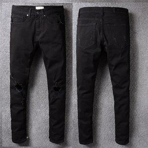 2020 New mens designer pants luxury jeans skinny jeans Slim Fit Motorcycle Biker Denim For Men Fashion Designer Hip Hop Mens Jeans