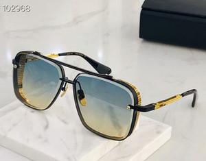 Люди Солнцезащитные очки мужские солнцезащитные очки, ограниченным тиражом SIX очки K золото ретро квадратный кадр кристалл резки линзы с сеткой Съемная имеют коробку