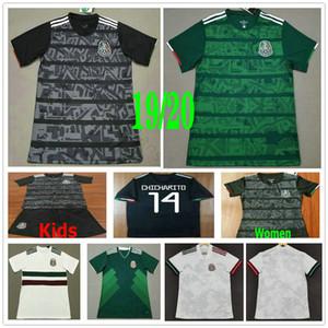 2019 2020 México Futebol Homem Mulher H.LOZANO G.DOS SANTOS Chicharito M.LAYUN H.HERRERA preta feita sob encomenda verde dos miúdos Football Shirt