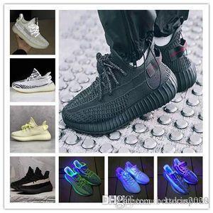 2019 fio Reflective Triplo LID branco Manteiga cinza pirata preto vermelho da listra da zebra Homens Mulheres Running Shoes Kanye West Sneakers 2,0 desportivos Bred