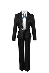 Danganronpa Byakuya Togami Black Jacket Top Pants White Shirt Uniform Outfit Cosplay Costume