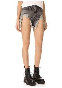 Verão Mulheres RI3 calções Tassel mulheres jeans da moda fresco do estilo furo furos lavado desgastado calções rebarbas jean menina tamanho asiático 25-30 sxzz741b40 #