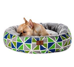 Moda Geometrik Desenler Baskı Üst düzey Pamuk Kumaş Kennel Pet Kennel Ekose Köpek Yatak Pad Kedi Pad Yüksek kaliteli Pet Malzemeleri Kalemler