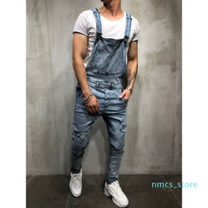 Fashion Men's Ripped Jeans Jumpsuits Hi Street Distressed Denim Bib Overalls for Man Suspender Pants Size S-xxxl XM08