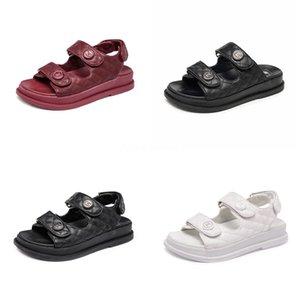 Top Fashion Kanye Foam Runner Designer Shoes Osso Branco Deserto de areia Sandália Triplo Branco Preto Vermelho Verão Luxo Mulheres Mulheres Platform Sandal # 6