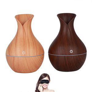 الخشب الحبوب الأساسية المرطب رائحة النفط الناشر المرطب الهواء تنقية usb فلاش led أضواء البخاخ للمنازل والمكاتب المنزلية WX9-1302