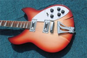 جودة عالية 6 سلسلة غيتار كهربائي، ودروم 360 الغيتار الكهربائي، الكرز الأحمر الجسم مع الورد الأصابع شحن مجاني