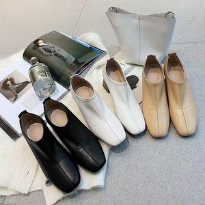 Womens designer chunky heel shoes Comfortable and comfortable fabrics Fashion womens square head single shoes