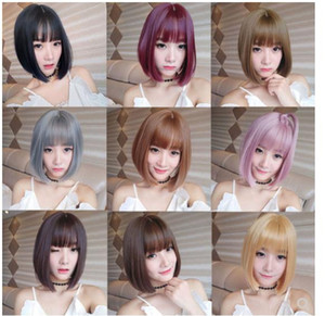 Wig female short hair wig natural bobo head net red round face full wig hairstyle fake hair