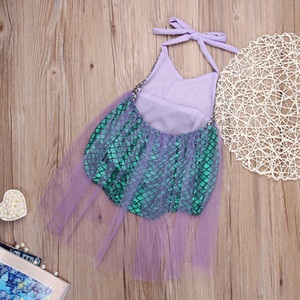 Girl Swimwear Mermaid Bikini Swimsuit Kids Sequined Swimming Suit For Girl Children BathingSuit Girl Costume one piece wholesale