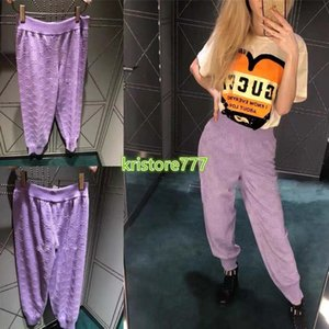 las mujeres de gama alta niñas de punto jacquard ropa deportiva de las bragas tee carta motivo largo de la manga de la camiseta activan los pantalones legging 2020 chándal de moda