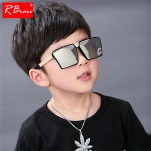 Rbrare Óculos De Sol Clássicos quadrados raparigas rapazes Espelho Colorido Crianças Óculos de forma côncava Personalidade Anti-UV Street Beat Kid