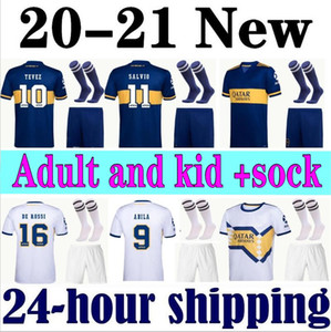New 2020 Boca Juniors Soccer Jerseys Home Away 20 21 Boca Adult Jersey GAGO CARLITOS DE ROSSI TEVEZ PAVON Kids Kit Socks Football Shirts