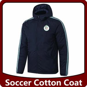 Алжир футбол хлопчатобумажные куртки, Algeria Hoodie футбольные хлопковые куртки трексуиты ветровка тренировка зимнее пальто бегущих куртки