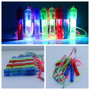 LED Light Up Whistle Colorful Luminous Noise Maker Kids Children Toys Birthday Party Novelty Props Christmas Party Supplies ZZA1151