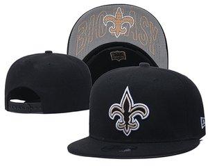 2020 New gros Nouvelle-Orléans Hommes Flat Baseball Snapback Chapeaux Sport d'équipe Logo brodé One Size Casquettes ajustables Out Door Bones Mode