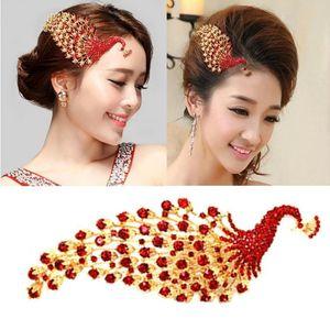 HIMSTORY Chinesischer glücklicher Pfau Phoenix Tiara Kämme Brauthaarzusatz Hairwear