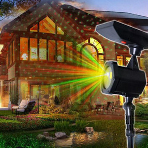 Waterproof Outdoor Christmas Lights Laser Solar Power Star Light Projector LED Lawn Lights Holiday Wedding Party Decoration 3
