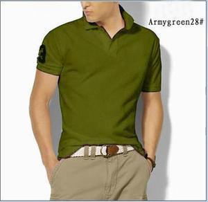 2019 Новый Бренд Вышивка Поло Рубашка Мужчины Сплошные Цвета Модный Воротник Дизайн Поло Homme Лето Короткий Рукав Polos Para Hombre MT653