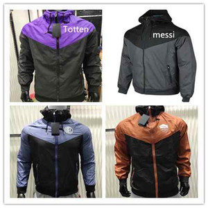 Rome Windjacke Kapuzen 2018 19 2018 2019 Manchester Jackets Roma utd MESSI Windjacke mit Kapuze INTER Mantel Windjacke uniform