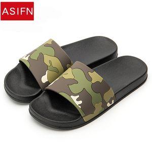 ASIFN Erkekler Camo Terlik Slaytlar Yaz Rahat Tarzı Ayakkabı kaymaz Kapalı ve Açık Sandalet Ev Sapato Masculino Flip Flop