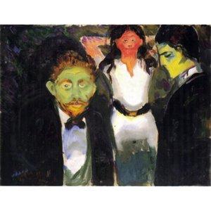 Edvard Munch pinturas Celos arte moderno óleo sobre lienzo Arte hecho a mano Regalo