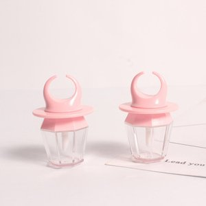 Biberon Mignon vide Lip Gloss Clear Tube Mini Rechargeables Baume à lèvres Bouteilles Lip Gloss Tube avec inserts en caoutchouc