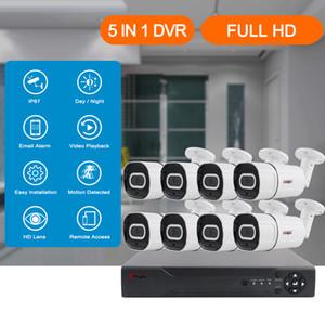 4/8-канальный 2 / 5MP Аудио запись DVR камера безопасности системы Kit AHD камеры ИК Открытый водонепроницаемый CCTV системы видеонаблюдения DVR Set