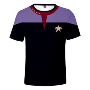 2019 Sinema Uzay Yolu t gömlek Harajuku streetwear Kısa Kollu Kpop Artı boyutu Uzay Yolu Cosplay tişört, gündelik kıyafet erkekler için