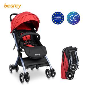Carrinho de bebê Besrey Carrinho de passeio leve Dobrável Viagem de avião pequeno Transporte Carrinho de bebê recém-nascido sentado e deitado