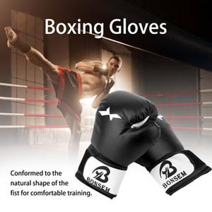 1 paire Sanshou Gants de boxe Nouveau style de boxe Sanda Karaté Mitaines Sandbag Taekwondo de combat Gants de combat-main libre