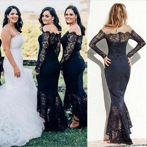 Elegant Fashion Bridesmaid Dresses Custom Made Different Color Off Shoulder Maid Of Honor Dresses Hi-Lo Zipper Back Wedding Guest Dresses