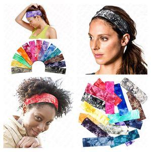 Deportes banda de pelo de algodón teñido anudado impreso diadema D62906 Bandas vendas elásticos Mujeres Niñas Marca flores del pelo headwraps turbante Headwear