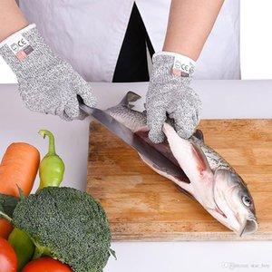 HPPE Anti-kesme Eldiven Koruyucu Seviye 5 Gıda Mutfak Mezbaha Jel Anti-delinme Anti-kesme Açık Eldiven Mutfak aksesuarları