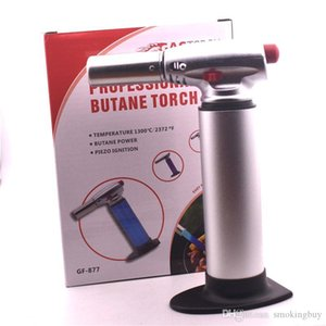1300C Butane Scorch Torch Jet Flame Torch Kitchen lighter Giant Heavy Duty Butane Refillable Micro Culinary Torch dhl free