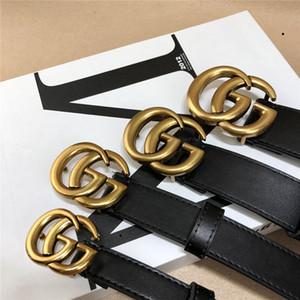 Modedesigner-echte Leder-Gürtel Männer Zubehör hohe qualtiy luxruy Marke Ledergürtel Legierung Gürtel glatt