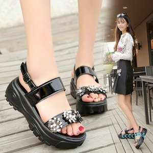 Fashion Womens Shoes 2019 Wedge Female Sandal Buckle Strap Beach Sandals Muffins shoe Clear Heels Med All-Match 2019 ct4