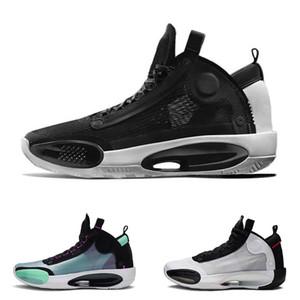 Chaussures de basket-ball 34s pour hommes Jumpman XXXIV 34 Eclipse Bleu Void hommes de haute qualité Chicago trainer chaussures de sport d'athlétisme taille 7-12