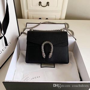 Haute qualité femmes célèbres sacs de marque mode sac classique simple sac à bandoulière tête de serpent concepteur en cuir véritable Ladies sacs à bandoulière chaîne