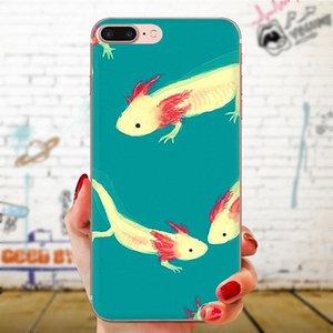 Custom Soft TPU Cell Phone For Huawei P7 P8 P9 P10 P20 P30 Lite Mini Plus Pro Y9 Prime P Smart Z 2018 2019 Cute Animal Axolotl Black xwNQT