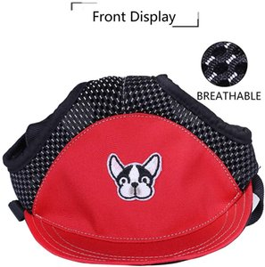 Pet baseball caps, summer sun hats with pierced ears, outdoor sports caps, small, medium, large dogs, puppies