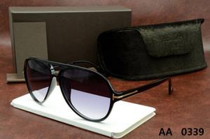 Top qualité nouvelle mode lunettes de soleil pour tom homme femme lunettes designer marque lunettes de soleil ford lentilles avec boîte d'origine 5178 0339