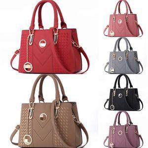 Lostsoul Marken-Frauen-Leder-Handtaschen Zahnstocher Stripes Aktentasche Top-Griff Taschen-Designer-Geschäfts-Schulter-Damen Totes Black # 661