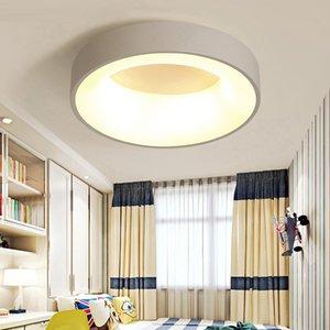 Nordic master circle led ceiling light living room bedroom kitchen simple modern round room lamp creative study room lighting R31