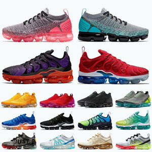 Fly Knit Tn Plus 2020 Running Shoes Mens Trainers Womens Sneakers Pink Green Voltage Purple USA CPFM tns 2019 Moc Sports Shoes